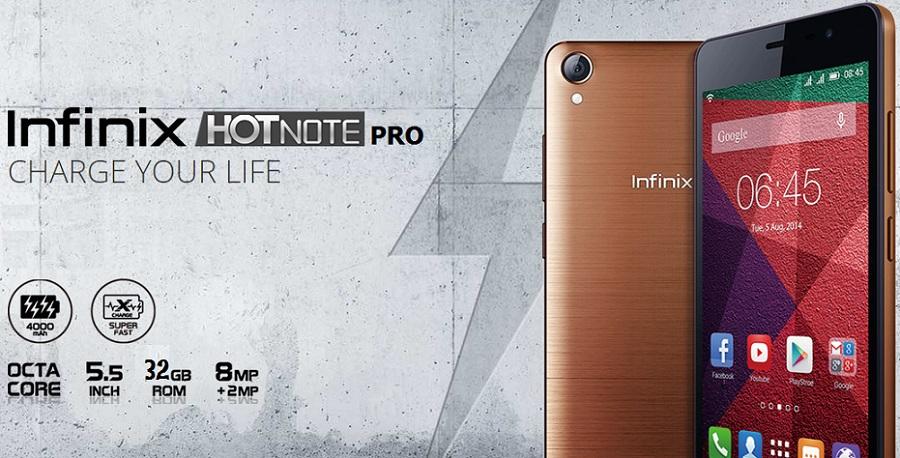 Infinix Hot Note Pro specs