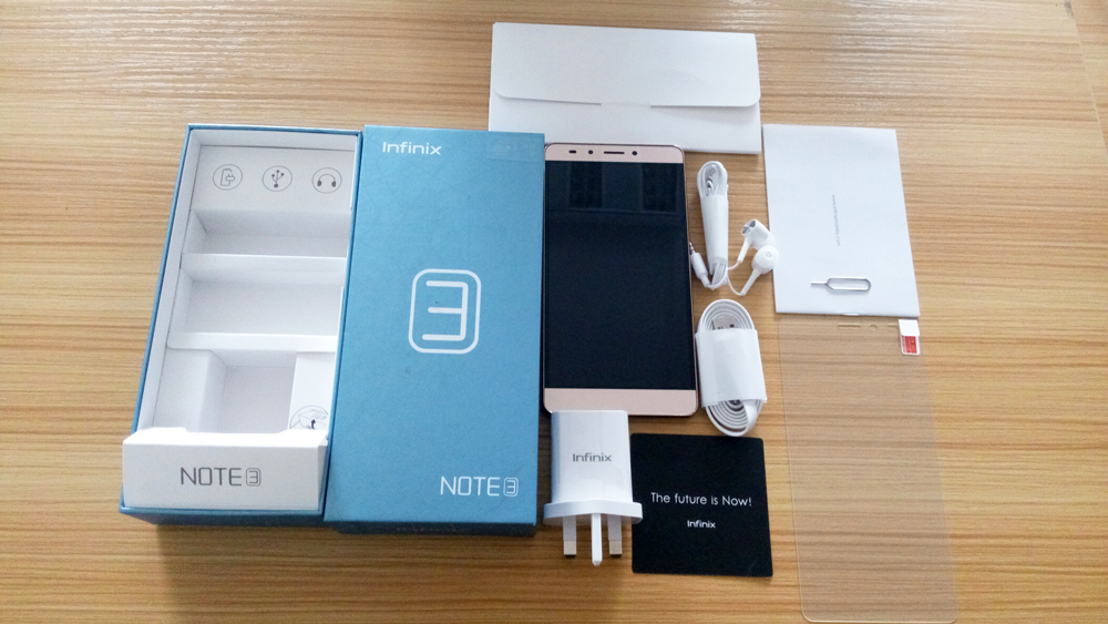 Infinix note 3 box